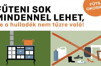 Fűts okosan!- kampány a levegő tisztaságáért