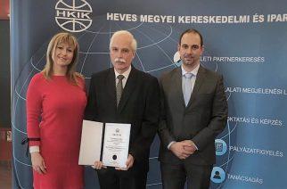 Szakképzési díjat kapott Garamhegyi Gábor